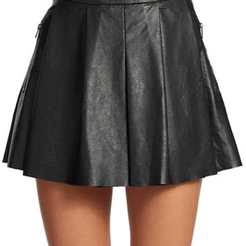 Blank Nyc Faux Leather Circle Skirt