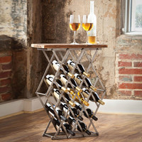 Crossbar Wine Rack Table