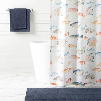 Happy Fish Shower Curtain