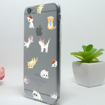 Original Cute Cat iPhone 5c 5se 5s 6 6s Plus Case Cover + Free Gift Box