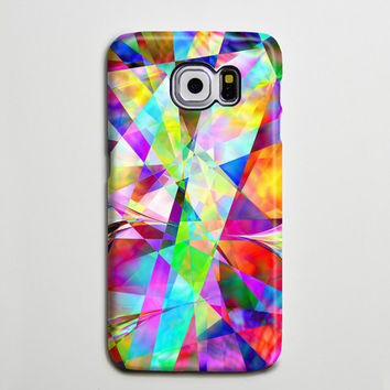 Rainbow Colors Geometric Samsung Galaxy S6 Edge Case,Galaxy S6 case,Samsung S5 Case S4 Case S3 Case,Samsung Galaxy Note 3 Case Note 2 Case