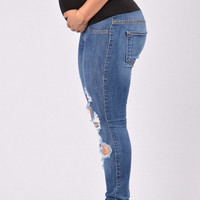 Beach Bum Maternity Jeans - Medium Blue
