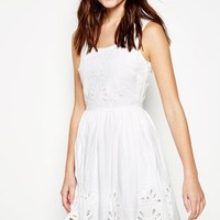 BEALBURY EMBROIDERED SLEEVELESS DRESS