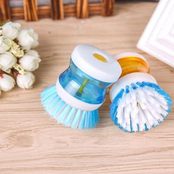 1PC Random Color Washing Pot Brush kitchen gadgets Wash Tool Pan Dish Bowl Brush Scrubber glove Cleaning Kitchen Accessories