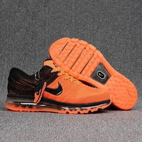 Nike Air Max Fashion Women Men Leisure Sport Shock Absorption Shoes Sneakers Orange I