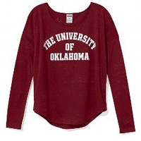 University of Oklahoma Burnout Long-sleeve Drapey Tee - Victorias Secret PINK - Victoria's Secret
