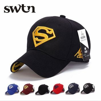 2017 NEW Brand SUPERMAN Polo Snapback Mens Baseball Caps Women Fitted Adjustable Hat G