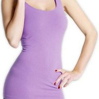 Seamless One Size Long Jersey Tank Top (Lilac)