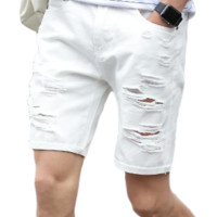 Men's Distressed Denim Shorts