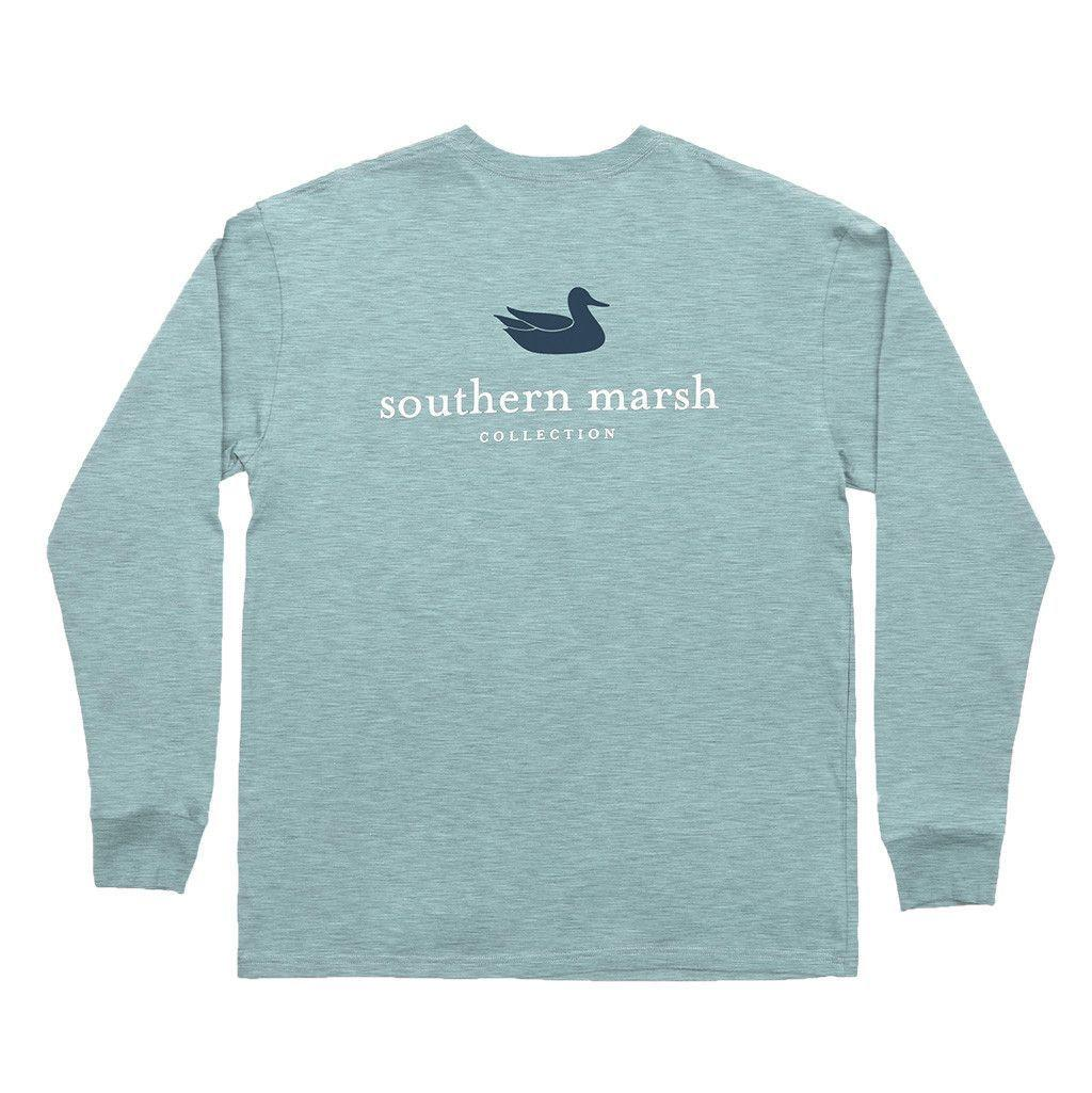 28c8341eba8e Authentic Long Sleeve Tee in Washed Moss Blue by Southern Marsh - FINAL SALE
