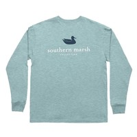 Authentic Long Sleeve Tee in Washed Moss Blue by Southern Marsh - FINAL SALE