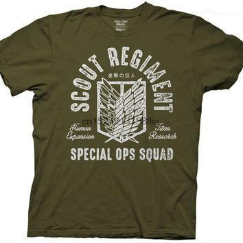 Cool Attack on Titan  Scout Regiment Special Ops Squad Adult T-Shirt AT_90_11