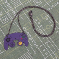 GIRL GAMER Gamecube Video Game Controller Necklace by PlayBox