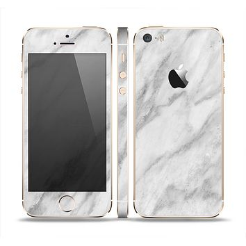 The White Marble Surface Skin Set for the Apple iPhone 5s