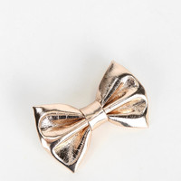 Metallic Bow Hair Clip - Urban Outfitters