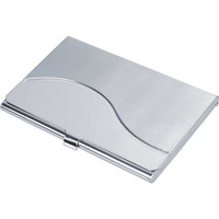 Wave Polished And Satin Finish Business Card Case
