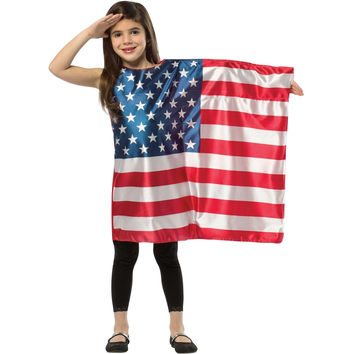 Usa Flag Dress 4-6x