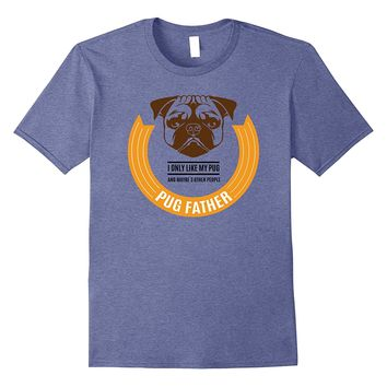 Mens Pug Father Fathers Day Shirt