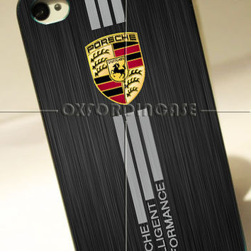 Porsche Aluminium Brushed Printed  - for iPhone 4/4S case iPhone 5 case Samsung Galaxy S2/S3/S4 case hard case