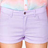 Colored Denim Shorts