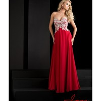 Preorder - Jasz Couture 5737 Red Sweetheart Strapless Embellished Long Gown 2016 Prom Dresses