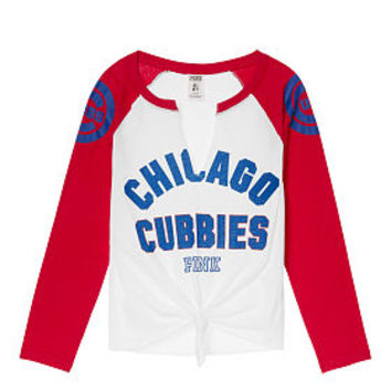 Chicago Cubs Split-Neck Baseball Tee - PINK - Victoria's Secret