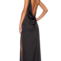 SOLACE London Rosario Maxi Dress in Black