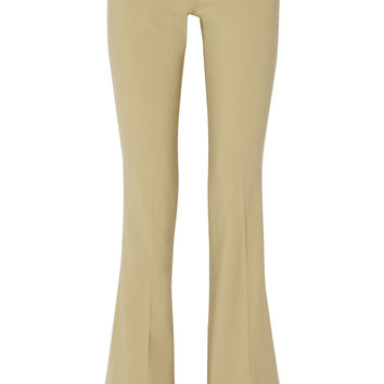 - Stretch-wool flared pants