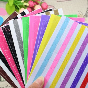 Colorful Corner Paper Stickers for Pictures Photo Albums Frame Home Decoration Scrapbook 1sheet 5sheets(102pcs sheet) 048012001