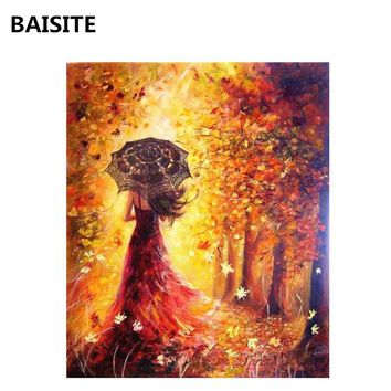 BAISITE DIY Oil Paint By Numbers Hand Painted Canvas Wall Pictures For Living Room Home Decor Wall Art H034