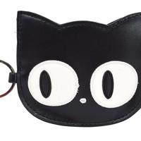 Emo Punk Kawaii Gothic Lolita Big Eye Black Cat Face Coin Purse