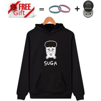 KPOP BTS Bangtan Boys Army Hip Hop K-POP Moletom Feminino  Cartoon Characters JIMIN SUGA Hooded Sweatshirt 4XL Large Size Unisex Hoodies Women Clothing AT_89_10