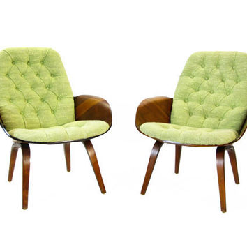 Pair of Plycraft MulhauserCherner Chairs by HousingAuthority
