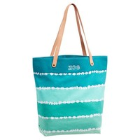 Seaside Splash Beach Tote, Cool Tie-Dye Stripe