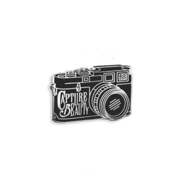 Capture Beauty Enamel Pin