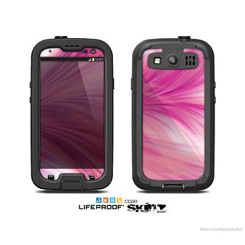 The Abstarct Pink Flowing Feather Skin For The Samsung Galaxy S3 LifeProof Case