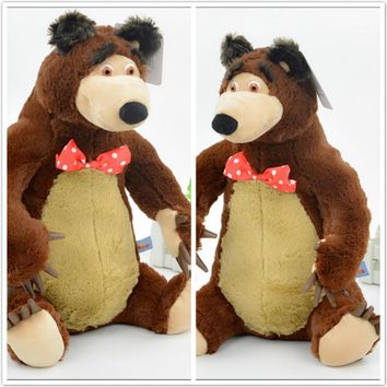 Russian Electronic pet Musical Talking  Action Figure Doll 27cm And 38cm masha wity Bear Toy Boneca Kids toy Gift For Girls