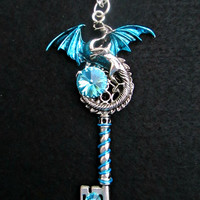 Winter Bliss Dragon Key Necklace