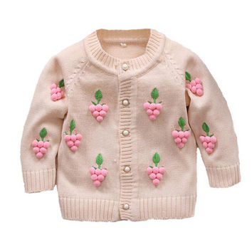 Children sweater Baby coat Kids Sweater Baby Jacket Knitted Pattern Girl Outwear Winter Autumn coat Clothes