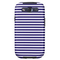 Blue And White Stripes Samsung Galaxy S3 Cover