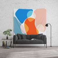 Modern minimal forms 36 Wall Tapestry by naturalcolors
