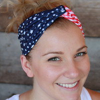 Stars and Stripes Patriotic Headband
