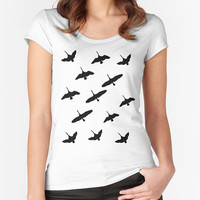 Geese T-shirt - Fitted Scoop Neck Women's T-shirt