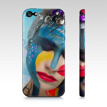 Body Paint Art Lady Emotion iPhone 5S /5 Cover