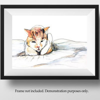 ORIGINAL CAT PORTRAIT Cat paintings in watercolor, custom pet portraits gift for someone who lost a pet. Personalized pet memorial