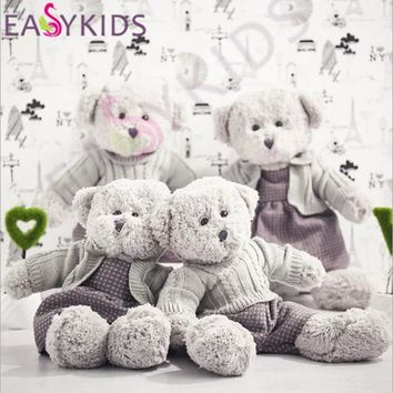 Lovely 45cm 55cm Teddy Bear Sweater Dolls Stuffed Animals Plush Toys Teddy Bear Sleeping dolls birthday Christmas Gifts for Kids