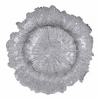 Glorious Glass Charger Plate, Silver-EN111730