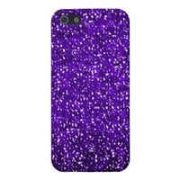 Purple Bling Sparkle Glitter iPhone 5 Case