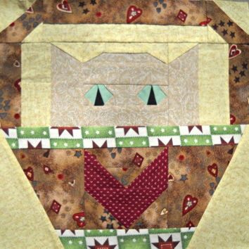 Heart Cat Quilt Block Pattern