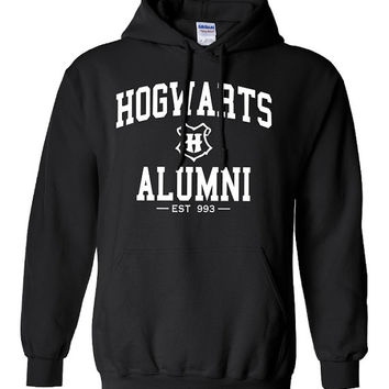 Hogwarts Graduate Alumni hooded Sweatshirt Printed hoodie Mens Womens Ladies Unisex Funny Harry Potter Wizard Magical DT-011W